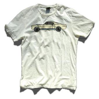 レーシングディビジョン ローラTシャツ白 マスタング
